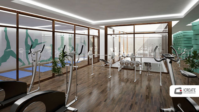 CGI Gym Interior